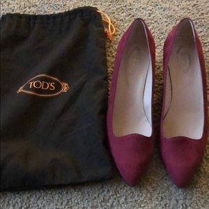 Tod's Shoes | Brand New Suede wedge pumps